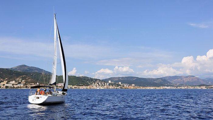 La baie d'Ajaccio en Corse
